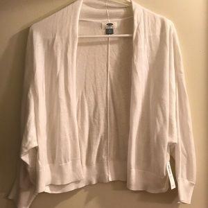 Old Navy White 3/4 Sleeve Cardigan Size Medium